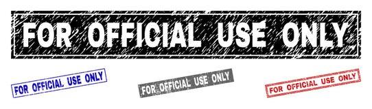 Le grunge POUR l'USAGE OFFICIEL a seulement donné à des joints une consistance rugueuse de timbre de rectangle illustration de vecteur