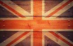 Le grunge unissent le drapeau de royaume Images libres de droits