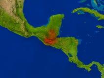 Le Guatemala de l'espace en rouge Photo libre de droits