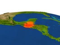 Le Guatemala en rouge d'orbite Image libre de droits