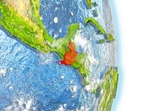 Le Guatemala en rouge sur terre Photographie stock