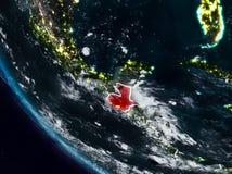 Le Guatemala la nuit de l'espace illustration de vecteur