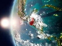 Le Guatemala pendant le coucher du soleil sur terre Image stock
