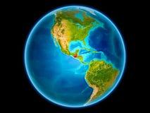 Le Guatemala sur terre de l'espace illustration libre de droits