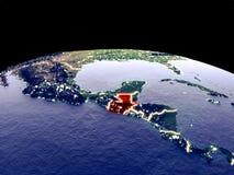 Le Guatemala sur terre de l'espace illustration de vecteur