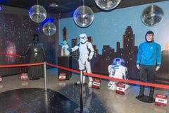 Le guerre stellari team la figura di cera al museo della cera Immagini Stock Libere da Diritti