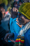 Le guide che celebrano su Kilimanjaro Fotografie Stock Libere da Diritti