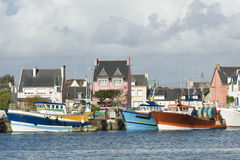 Le Guilvinec in Bretagne Lizenzfreies Stockfoto