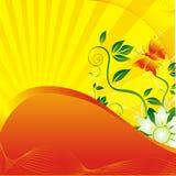Le guindineau et le soleil illustration de vecteur