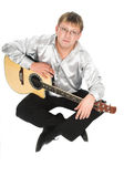 Le guitariste Images stock