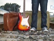 Le guitariste Photos libres de droits