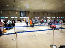 Le hall de départ de l'aéroport international de Ben Gurion chec Image stock