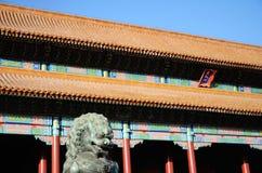 Le Hall de l'harmonie Supreme dans la ville interdite photographie stock libre de droits