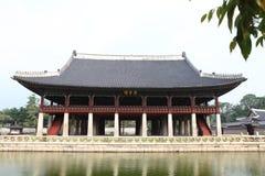 Le hall de réunion dans le palais de jingfu Images libres de droits