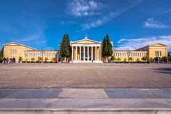 Le hall de Zappeion dans le ressortissant fait du jardinage à Athènes, Grèce Le megaro de Zappeion est un cent néoclassique de co images stock