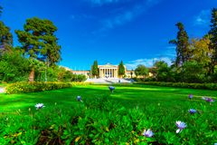 Le hall de Zappeion dans le ressortissant fait du jardinage à Athènes, Grèce Le megaro de Zappeion est un cent néoclassique de co photo stock