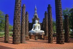 Le Hall grand de Wat Maha qui, Sukhothai, Thaila image stock