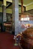 Le hall principal de la brasserie dans Litovel où de l'excellente bière est faite cuire Images libres de droits