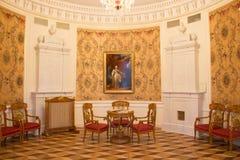 Le hall rond dans le manoir Photographie stock libre de droits
