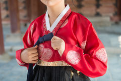 Le Hanbok coloré, robe traditionnelle coréenne photos libres de droits