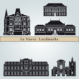 Le Havre landmarks and monuments Royalty Free Stock Photography