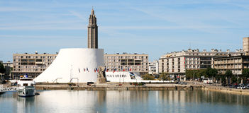 Le Havre panorama: the volcano Royalty Free Stock Image