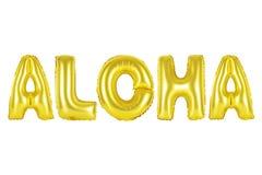 Le Hawai, Aloha, colore dell'oro Immagini Stock Libere da Diritti