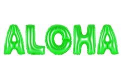 Le Hawai, Aloha, colore verde Fotografia Stock