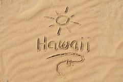 Le Hawai nella sabbia Fotografia Stock Libera da Diritti