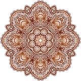 Le henné ethnique fleuri colore le mandala de vecteur Photographie stock