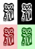 Le hibou des Indiens d'Amerique illustration stock