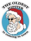 Le hippie le plus âgé vient à la ville illustration de vecteur