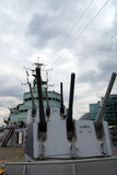 Le HMS Belfast Image libre de droits