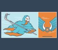 Le hockey sur glace Reaper illustration libre de droits