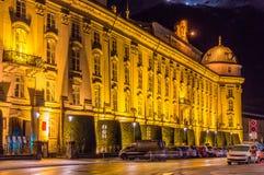 Le Hofburg (palais impérial) à Innsbruck image stock