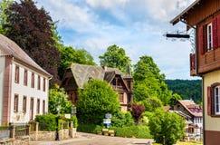 Le Hohwald, en by i de Vosges bergen Royaltyfri Bild