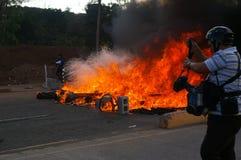 Le Honduras protestation march en janvier 2018 Tegucigalpa, Honduras 14 photos libres de droits