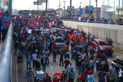 Le Honduras protestation march en janvier 2018 Tegucigalpa, Honduras 10 photos libres de droits