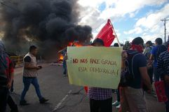 Le Honduras protestation march en janvier 2018 Tegucigalpa, Honduras 7 image libre de droits