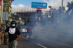 Le Honduras protestation march en janvier 2018 Tegucigalpa, Honduras 4 images libres de droits