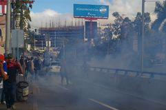Le Honduras protestation march en janvier 2018 Tegucigalpa, Honduras 2 photo libre de droits
