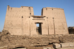 le horus arabe de l'Egypte d'edfu d'af indique le temple Images stock