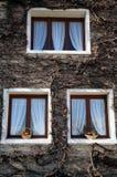 Le hourdel Drzewo okno zdjęcia stock