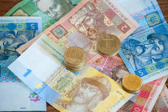 Le hryvnia ukrainien de devise images libres de droits