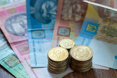 Le hryvnia ukrainien de devise Photos stock