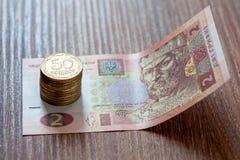Le hryvnia ukrainien de devise Image stock
