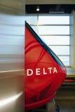 Le hub métropolitain de delta de Detroit Wayne County Metro Airport (DTW) Photos libres de droits