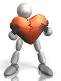 Le Humanoid ont le coeur endommagé. illustration de vecteur