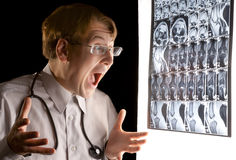 Le hurlement du docteur Images libres de droits