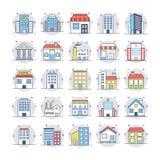 Le icone colorate costruzioni hanno messo 3 Fotografia Stock Libera da Diritti